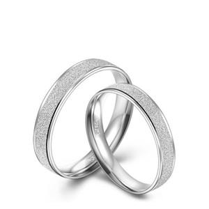 새로운! 진짜 925 스털링 실버 커플 반지 세트 여성과 남성 쥬얼리 순수 실버 웨딩 약혼 보석 R02