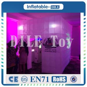 Ücretsiz Kargo 2.4x2.4x2.4 m Led Aydınlatma Şişme Photo Booth Parti Düğün Için Bir Açılış Photo Booth Çadır