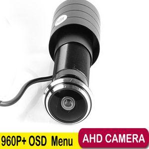 AHD 960P 1.78mm 어안 렌즈 와이드 앵글 미니 AHD 카메라 1.3 메가 픽셀 도어 카메라 OSD CCTV 핀홀 AHD 미니 카메라 버튼