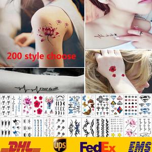 200 Pegatinas de Tatuaje de Estilo A Prueba de agua Arte Corporal Tatuajes Temporales Pegatinas Mujeres Hombres Joyería Regalos Salud Belleza Producto HH-S17