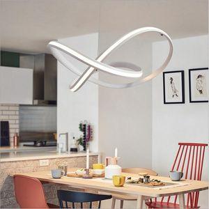 Minimalismo moderno Lámpara colgante led Lámpara colgante de aluminio Accesorio de iluminación interior para comedor Cocina Bar Bar Lamparas Colgant
