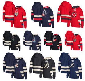 Sudadera con capucha personalizada Hockey Winnipeg Jets Dallas Stars Nueva Jersey Devils Columbus Blue Jackets Tampa Bay Lightning Carolina Hurricanes