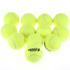 Wholesale-High Elasticity 12pcs/set Training Tennis Ball Durable Natural Rubber Tennis Ball Wear Resistant Yellow Tennis Ball Bag Package