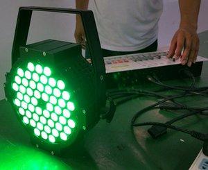 Spedizione gratuita 54X3W Alluminio ad alta potenza Slim LED Par Lattine RGB 3in1 Tri color Slim Par 64