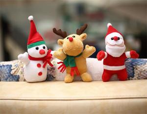 3 Styles Christmas Gift Snowman Reindeer Santa Plush Toys Pendant Plush Dolls Christmas Decoration Free Shipping