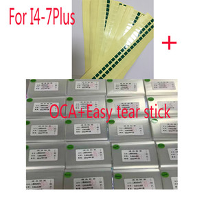 50pcs 250um OCA Optical Limpar adesivo para iPhone 5 5S 5C 4 4s 6 6s 7 Plus OCA Glue toque de lente de vidro Filme com fácil vara lágrima