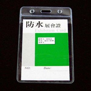 20 шт./лот вертикальный ID держатели значков ПВХ имя карты ID кредитный сертификат пластиковые водонепроницаемый прозрачный карты Papelaria