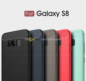 Funda de silicona de fibra de carbono para Samsung Galaxy S8 Plus S6 Edge Note 8 TPU suave a prueba de golpes Funda trasera Note8 Protector de las cajas del teléfono