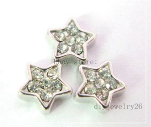 10pcs Crystal Star Floating Charms for Living Memory Locket Envío gratis FC096
