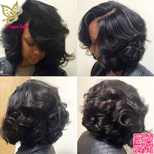 Short Wavy Lace Front Wigs Human Hair Brazilian Unprocessed Human Hair Full Lace Wigs Body Wave For Black Women