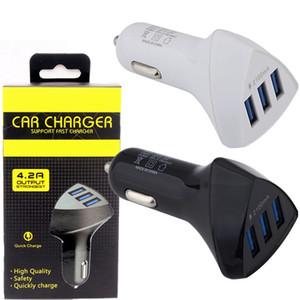 아이폰 7 8 삼성 S7 S8 안드로이드 전화에 대한 자동차 충전기 3 USB 차량용 충전기 자동차 전원 어댑터는 제품과 함께 MP3를 GPS를