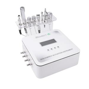 Le plus nouveau multi 7 dans 1 instrument facial d'activation d'énergie de peau ultrasonique rf machine faciale micro actuelle machine rf faciale 1 avec galvanique