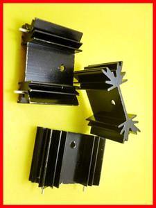Livraison gratuite 50 pcs TO-220 dissipateur de chaleur pour Kit d'isolement régulateur de tension avec 2pin noir