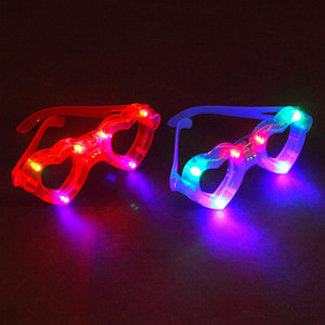 free shipping whilesale Children's toys emitting fluorescent glasses concert props ornaments creative gift glasses led glasses