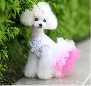 Evcil köpek giysileri bahar ve yaz pet elbise etek pet giysi dudaklar iplik etek
