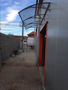 DS100300-A, 100x300 cm.depth 100 cm, largura 300 cm branco / preto / cinza alumínio toldo da porta, stong moldura de alumínio da porta de entrada dossel