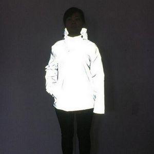 3M Reflective Jacket 2017 Giacca invernale a vento sottile Giacca da uomo Hip Hop Cappotto con cappuccio Impermeabile Cerniera Cappotti Capispalla Abbigliamento uomo