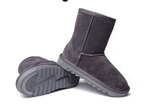 Vendita diretta in fabbrica Nuove donne di stile Cowskin Fleece Snow Boots Donne Stivaletti in vera pelle femminile Stivali invernali invernali caldi all'aperto