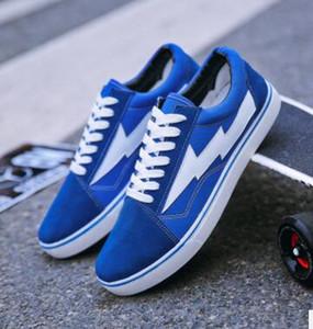 REVENGE x STORM NEW size35-44 Nuevo Unisex Low-Top High-Top Zapatos de lona de los hombres adultos 2 colores con cordones Zapatos casuales Zapatillas de moda