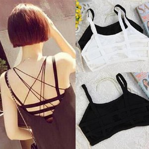 All'ingrosso-4144 Sexy Hollow Halter Vest Wrapped Chest Bra Fashion Summer Woman Cotton Vest