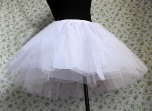 Şiddetli Gotik Barok Rokoko Lolita Alt Etek Siyah / Beyaz Petticoat Prenses Tutu Organze Kabarık Etek Petticoats Tatlı Lolita Elbiseler