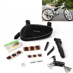 Multifunktions Sahoo Radfahren Fahrrad Bike Repair Tools Kit Set mit Pump Box Tasche Schwarz