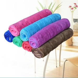 a più dimensioni multicolori fibra asciugamani velluto corallo assorbente non dissolvenza cucina veicolo auto asciugamano pulizia dei pavimenti