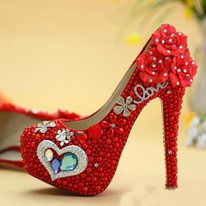 الأزرق الماس الوردي لؤلؤة عالية الكعب أحذية الزفاف حفل الكبار حزب أحذية الكرة مصمم جديد حجر الراين التخرج حفلة موسيقية مضخات