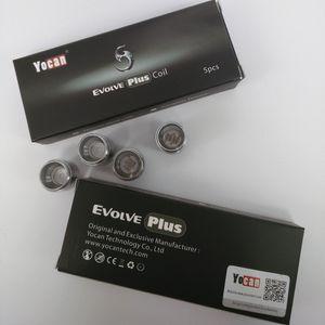 Аутентичного Yocan Evolve Plus NYX бак керамического пончик Катушка / Кварцевая двойная катушка Заменить ППЭС Coil Глава Wax сухой траву Atomizer