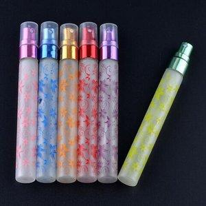 Fabrika Price'ın 10ml Benzersiz Baskı 6 Renk Mini Atomizer Cam Seyahat Küçük Cam Parfüm Parfüm Şişeleri Spray
