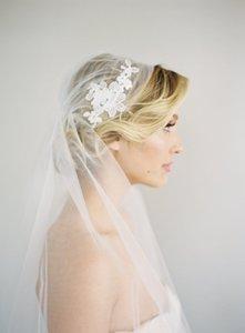 Beste Verkauf Juliet Cap Zwei Schicht Walzer Weiß Elfenbein Schnittkante Schleier Spitze Applique Braut Kopfschmuck Für Brautkleider 350