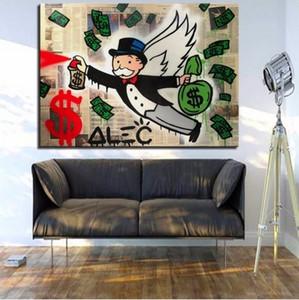 Alec Tekel Handpainted Graffiti Sanat yağlıboya Yeni Moda Kanatları, Ev Wall Art Decro Üzerinde Yüksek Kalite Tuval Çok boyutları