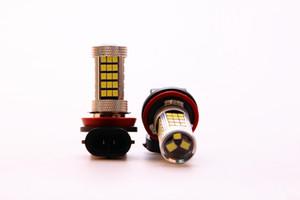 Super luminoso 2 Pz / lotto H11 12V 30W 63SMD Nuovo Auto Lampadine a luce bianca 6000K 2845 Proiettore LED LEN Lampada fendinebbia Luce di guida