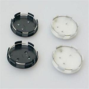 Tampas de roda de 60mm para Peugeot alta qualidade ABS preto prata carro traseira roda centro caps