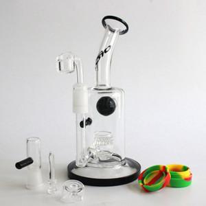4MM Quartz banger nail oil rig with quartz carb cap toro glass bongs water pipes honeycomb perc bubblers 14.5MM