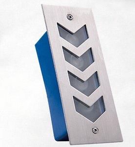 precio al por mayor 5W empotrada LED luces de piso 5w iluminación de la escalera paso llevado luz de la esquina de las luces 170 * 70 * 55mm AC85-265V