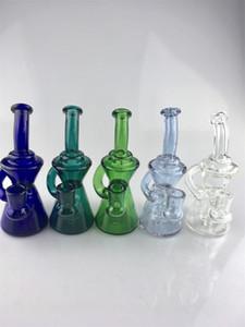 gd2017 Nouveau petit backwater verre bong usine directe d'approvisionnement pour accepter personnalisé personnalisé 14mm verre plates-formes de verre Livraison gratuite vitrail
