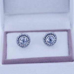 Stud Earrings Brilliant Silver Silver Cz Christmas Clear 1pair lot Fits Lagacy Brand Jewelry 925 With Earring Charms 2021 Sterling Gift Fukb