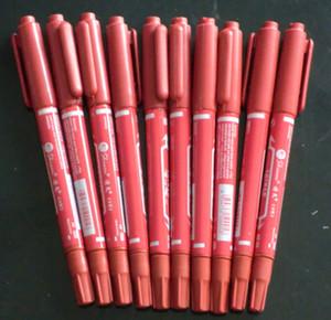 10pcs Tattoo marcador vermelho pele Marcação Scribe Pen Belas Reg Dica Tattoo Marcação Pen