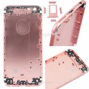 """Vivienda puerta de atrás de la batería para el iPhone 6S Plus 4.7 5.5 """"pulgadas de reemplazo caso de la cubierta Midframe piezas de plata gris del oro de Rose de oro"""
