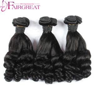 8-28inch Fummi cheveux Bundles Brésiliens Armure de Cheveux Humains Fumi Curl 3 Pcs Cheveux Humains Naturel Noir Aunty Fumi Bouncy Curls Bundles