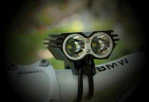 5000LM 2x CREE XML XM-L T6 LED Lámpara de luz de bicicleta Ciclismo X2 luz de bicicleta faro faro + cargador + batería
