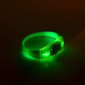 Eco-Friendly LED iluminado Brinquedos LED Pulseiras Voice Control Pulseiras Sensoriamento Remoto Banda de pulso do silicone Apoio Vocal Necessary