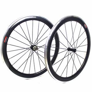 Велосипед 50 мм довод велосипед колеса 700C дороги волокна углерода гоночный велосипед колесных пар с сплава поверхности тормоза