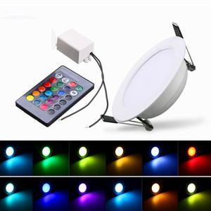Ücretsiz kargo RGB led ışıkları aşağı 3 W 5 W 10 W Led Panel Aydınlatma Downlight AC110 / 220 V Kapalı led gömme ışıklar