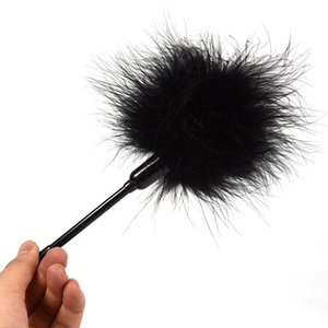 10cm Whip Flirting Tickler Feather Court Black Couple Couple Jouet Érotique Flagger Spanking Flirt Toy Soft Soft Slave Flirter Pour Sex 0701 Beepw