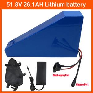2500 W 52 V 26AH bateria De Lítio 51.8 V 26AH forma Triângulo 14 S bateria Elétrica uso da bateria NCR18650PF célula 50A BMS frete grátis