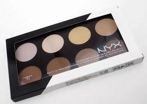 Newest NYX Highlighter Contour Powder Pro Palette 8 Shades Contour Kit NYX Face Powder Makeup DHL Free