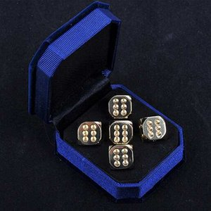 Handmade Polished Pure Copper 15mm 6 Sided Set Dice Retro Brass Dices Sets Originality Decorative Collection Bar Supplies 5pcs set #S48