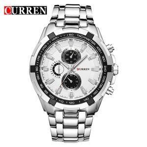 Relogio Masculino CURREN часы мужчины кварцевые армейские часы лучший бренд водонепроницаемый мужские часы мужчины Спорт 8023